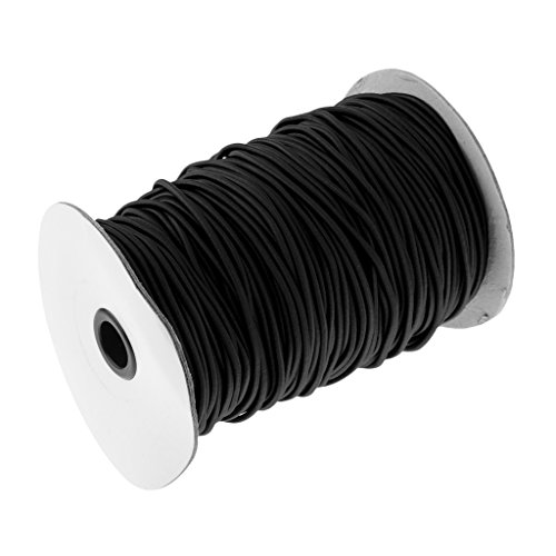 MagiDeal Corde Élastique Bungee Corde de Choc Resistance UV Cordon Remorque Bateau Câble Barre de Toit, 3mm - Noir, 10m