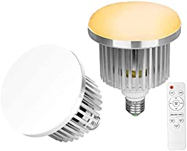 Abeststudio 2x 85W 3200K-5500K Bi-Color Dimmable LED Continous Lighting Bulb in E27 Socket for Photo and Video Studio Ligh...