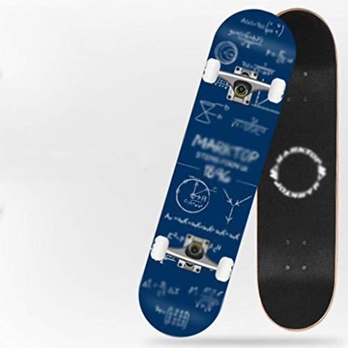 MISS YOU Skateboard Doppel Kick konkave Design Sieben Schichten Nordosten Bergahorn for Erwachsene Fähigkeit Skateboard for Anfänger geeignet über 5 Jahre alt (Color : B)