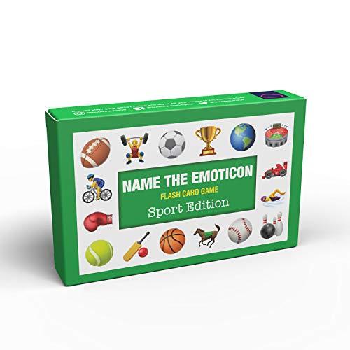 Bubblegum Stuff - Name The Emoticon Spiel – Sport   Raten Sie den Sportartikel, lustiges Emoji-Flash-Kartenspiel, geeignet für Familie, Kinder, Jugendliche und Erwachsene