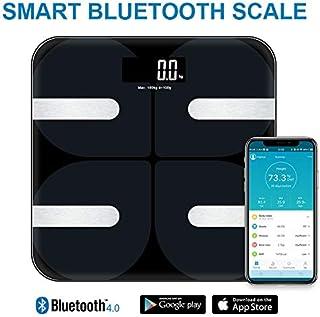 qianyi 体重計 体組成計 体脂肪計 Bluetooth対応 デジタル ダイエット アプリで健康管理 BMI 体脂肪率 筋肉量 体水分量 ヘルスメーター 薄型 180 kgまで (写真色)