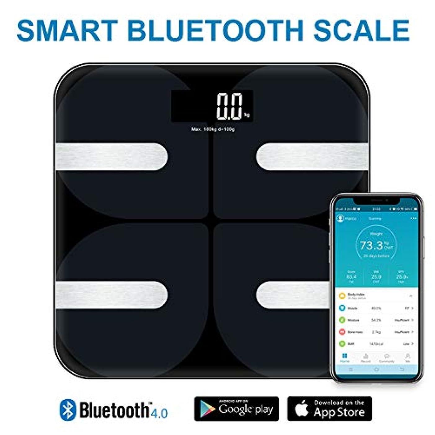 キャンプモジュール約設定qianyi 体重計 体組成計 体脂肪計 Bluetooth対応 デジタル ダイエット アプリで健康管理 BMI 体脂肪率 筋肉量 体水分量 ヘルスメーター 薄型 180 kgまで (写真色)