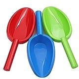 Schaufeln, Sandspielzeug, Strand Spielzeug Set für Kinder, 35 cm Sandschaufeln, Kids Beach Toys, Strandschaufeln, Garten Spielzeug Sandkasten Gartenwerkzeuge (3-teiliges Set)