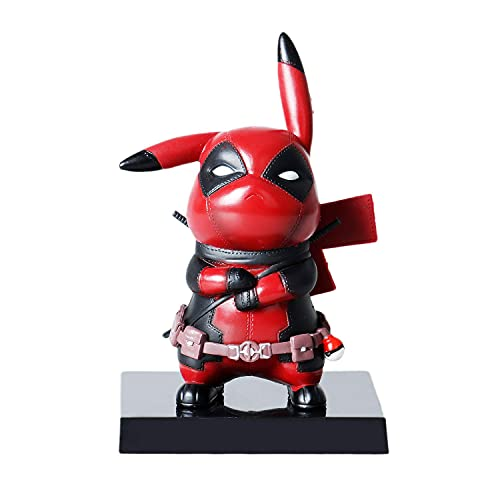 Pokemon Pikachu Deadpool Cosplay PVC Action Figure Statues Model Toys Christmas Gifts