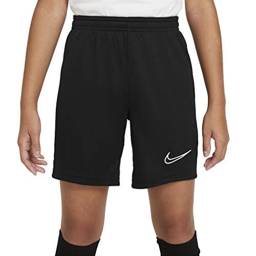 Nike Dri-Fit Academy, Pantaloncini da Calcio Bambino, Nero/Bianco/Bianco/Bianco, S