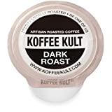 Koffee Kult Premium Dark Roast Coffee Single Serve coffee cups in pods for Keurig 2.0 coffee brewers- 12 count