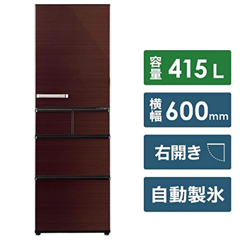 現実には一般的なランプアクア 415L 5ドア冷蔵庫(グロスブラウン)【右開き】AQUA SVシリーズ AQR-SV42H-T