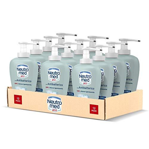 Neutromed Detergente Mani Liquido Antibatterico, Sapone Igienizzante Mani, 12 x 300 ml