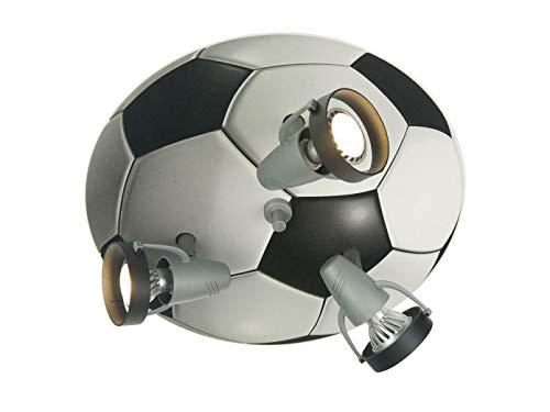 Plafonnier LED pour les fans de football, avec 3 spots LED orientables