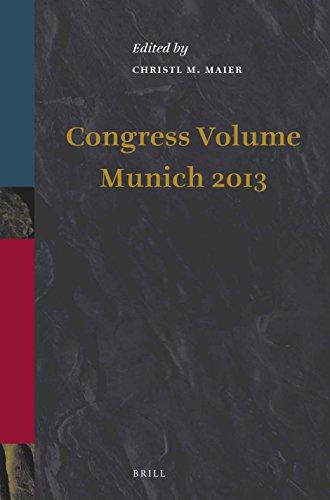 Congress Volume Munich 2013 (Supplements to Vetus Testamentum, Band 163)