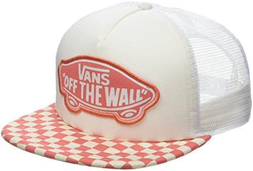 Vans_Apparel Beach Trucker Hat Gorra de béisbol, Rojo (Spiced Coral Checkerboard P39), Talla única para Mujer