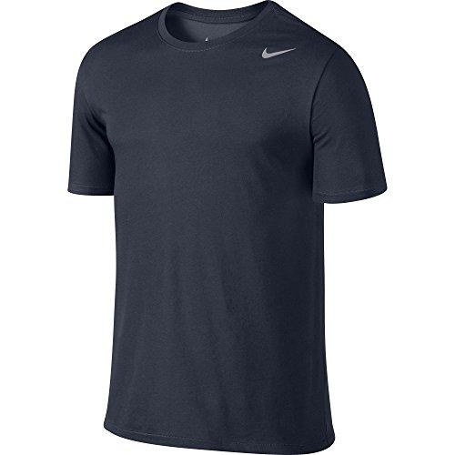 Nike M Nk Dry Tee Dfc 2.0 Camiseta de manga corta, Hombre, Azul (Obsidian/Matte Silver), M