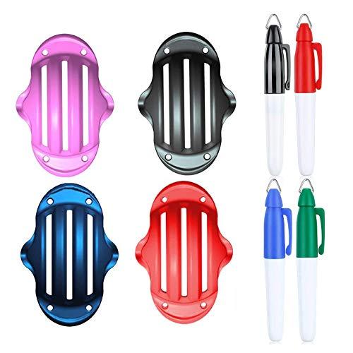 LEEWENYAN 4 Piezas Golf Ball Line Marker Tool, 4 Colores Juego de Pelota de Golf Clip Herramienta de Alineación