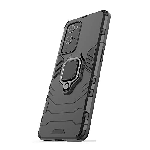 Funda para Xiaomi Redmi Note 9T 5G, RonRun Carcasa de PC+TPU Antigolpes Anticaídas Antiarañazos con Anillo Giratorio para Soporte Magnético de Coche, Case Compatible con Redmi Note 9T 5G Negro