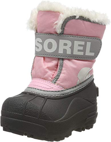 Sorel Unisex-Baby-Winterstiefel, TODDLER SNOW COMMANDER, Rot (Cupid), Größe: 22