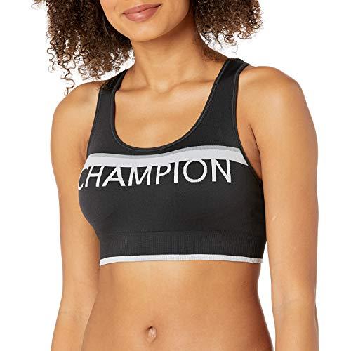 Champion The Infinity Sujetador Deportivo, Negro/Gris/Blanco, M para Mujer