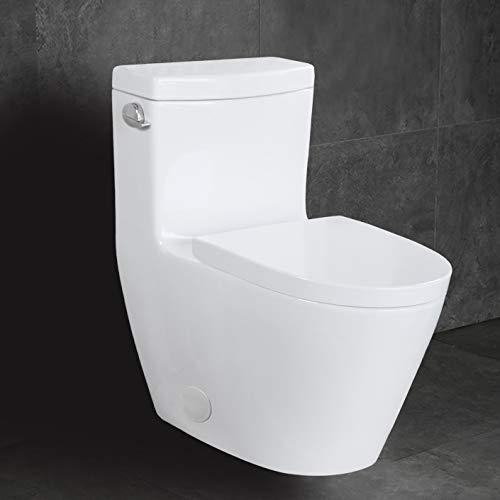 WinZo WZ5026 Elongated One Piece Toilet Modern Single Side...