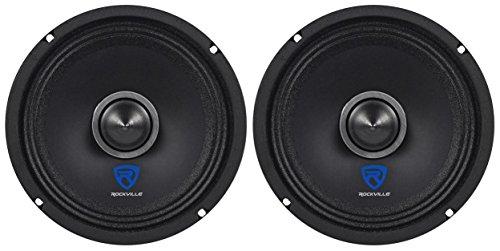 (2) Rockville RXM68 6.5' 300w 8 Ohm Mid-Range Drivers Car Speakers, Mid-Bass
