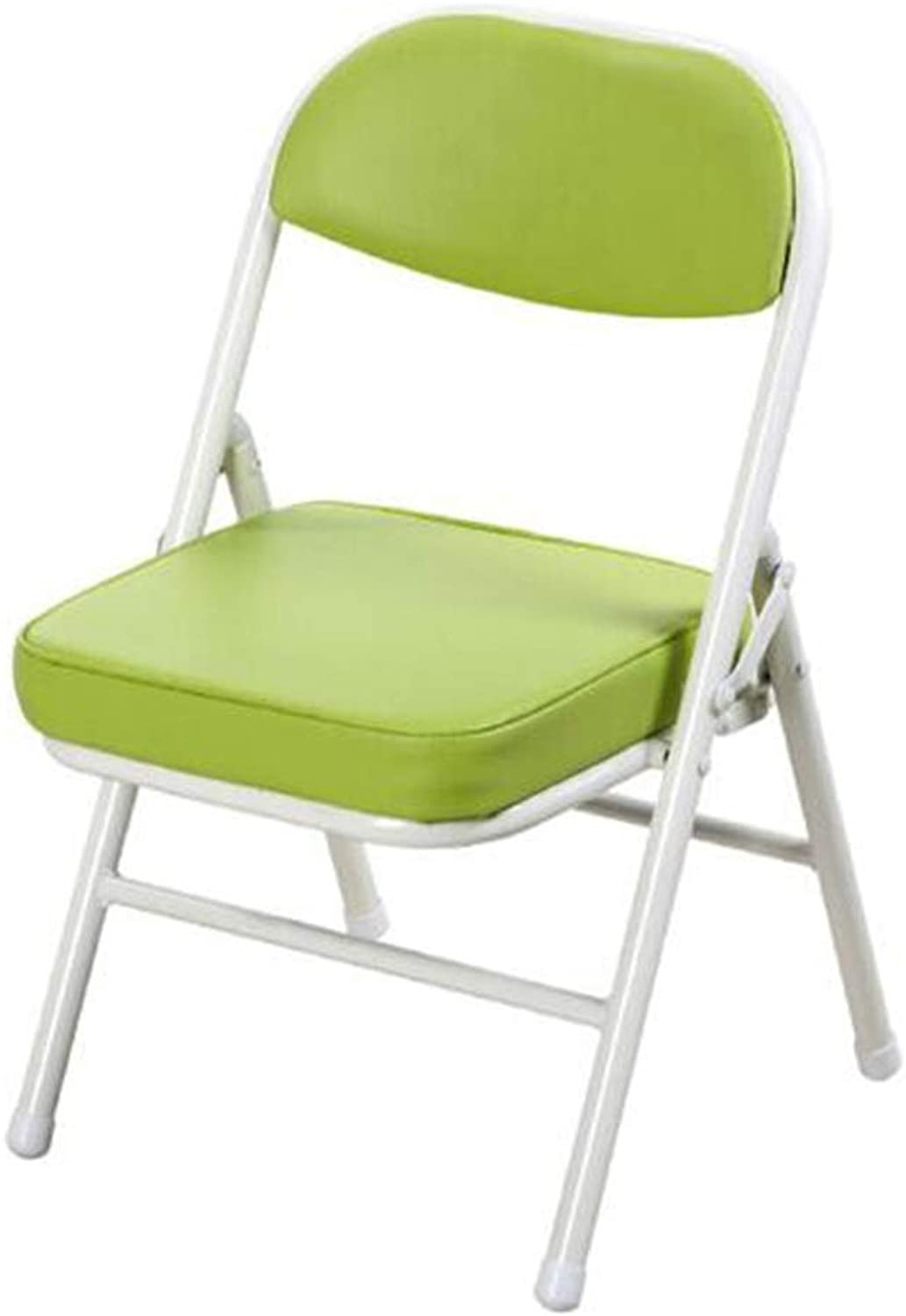 FENGFAN Folding Chair, Folding Stool, Computer Chair, Lounge Chair, Leather Art, Foldable Easy to Carry - Two Loaded - Multi-color Optional Folding Chair (color   Green)