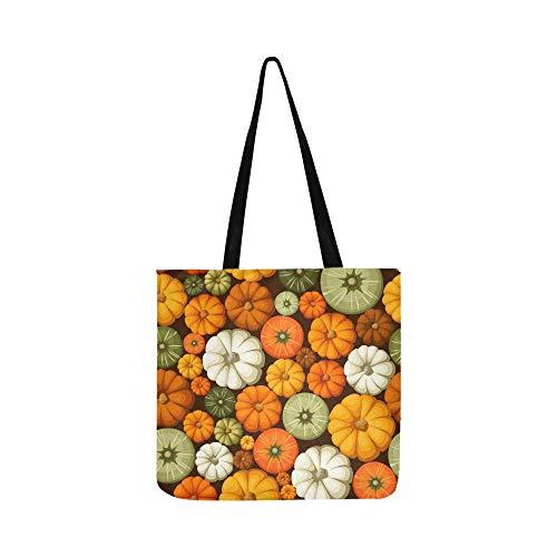 Vector Nahtlose Muster bunte Kürbis-Handtasche Schultertasche Umhängetasche Handtasche für Damen und Herren Einkaufstasche