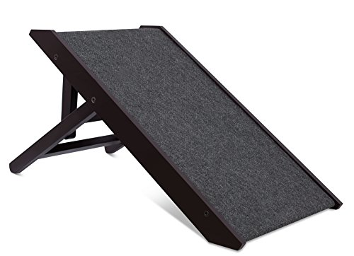 "Internet's Best Adjustable Pet Ramp - Decorative Wooden Folding Dog Ramp for Couch Bed Car - 26""..."