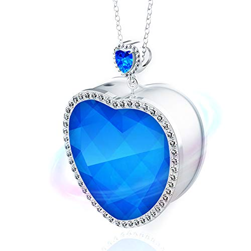 WOOLALA Ocean Heart Portable Air Necklace Auto Off Wearable Air Necklace for Travel Office Commuting
