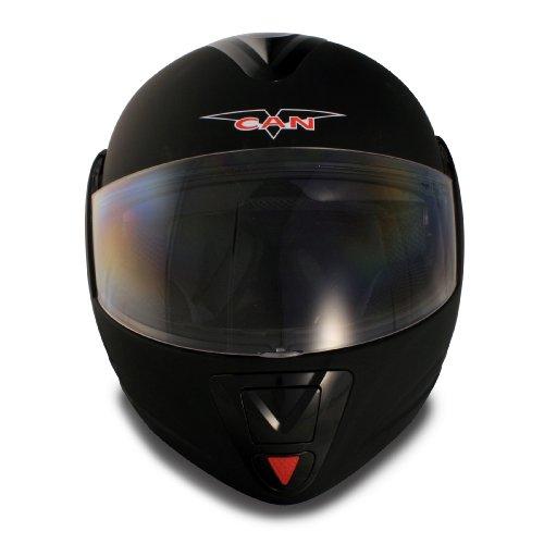 VCAN Blinc 210 Full Modular Helmet (Flat Black, X-Large)