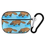 Funny Platypus PC Case Cover for AirPods Pro, Protective Anti-Scratch Case Cover with Funny Keychain