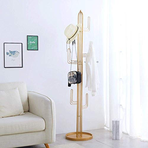 Home Equipment Stand Storage Rack Modern simplicity Standing Metal Coat Rack Hat Hanger For Jacket Purse Scarf Rack Umbrella Tree Stand Versatile Usage for Bags Hats Hats (Color : Green Size : 40 t