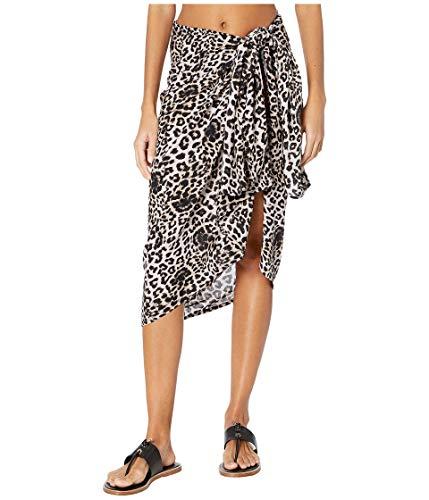 MIKOH Women's Kainoa Beach Sarong, Leopard, Print, Grey, One Size