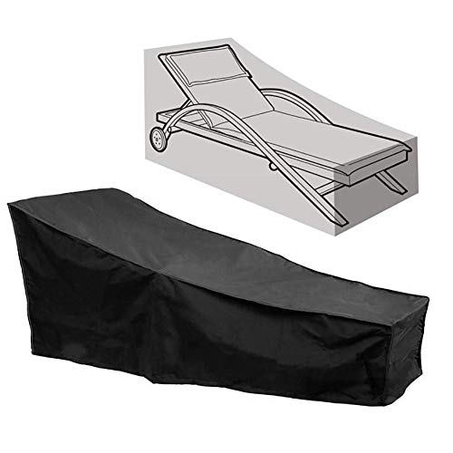 DLYDSSZZ Furniture Covers Multifunction Patio Chaise Lounge Cover, Waterproof Outdoor Lounge Chair Protective Cover, 210x77x79CM (Size : 210x77x79CM)