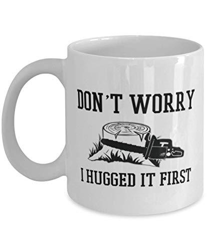 Jopath Taza de café divertida con texto en inglés 'Don't worry I hed it first-one_color'