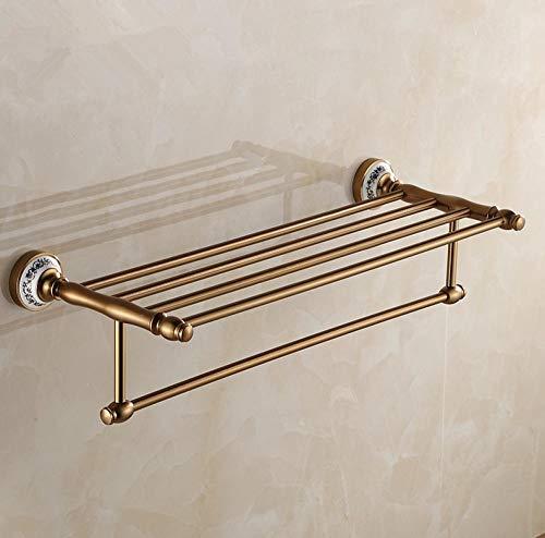 SHDJYR Toallero de diseño Antiguo Accesorios de baño Modernos Toalleros Estante Soporte de Toallas romántico/toallos