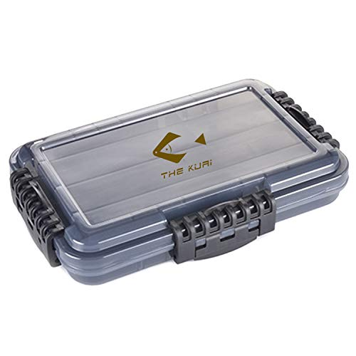 """Fishing Tackle Box, Fishing Tackle Storage, Plastic Box, Plastic Storage Box with Removable Dividers - Solid Structure, Waterproof Seal, One-Handed Operation (translucent blue, 10.7""""x7.1""""x1.9"""")"""