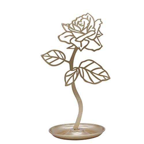 Artesanías caseras decoración de Flores Pendientes Collar Estante de Almacenamiento Creativo Soporte de exhibición de joyería Almacenamiento de Joyas Arte de Hierro