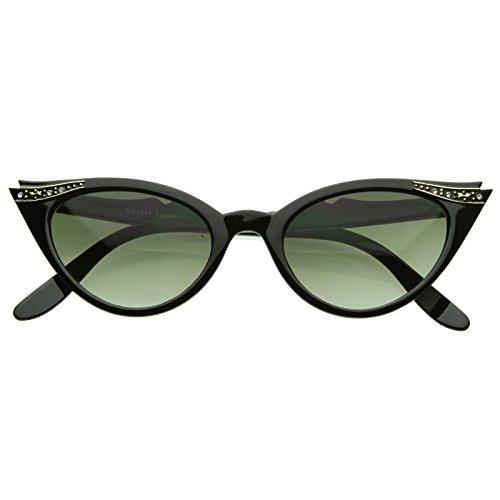 KISS Gafas de sol CAT EYE mod. PIN-UP CRYSTALS - vintage MUJER elegante de la...