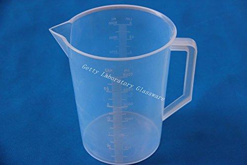 3000ml plástico transparente Graduado Vaso de plástico de medición de PVC de...