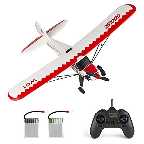 GoolRC W01 RC Aereo, 2.4GHz 3CH Aereo Telecomandato, Modello Aeroplano 6 Assi Gyro Gliding J3 Aircraft Giocattolo per Bambini Adulti