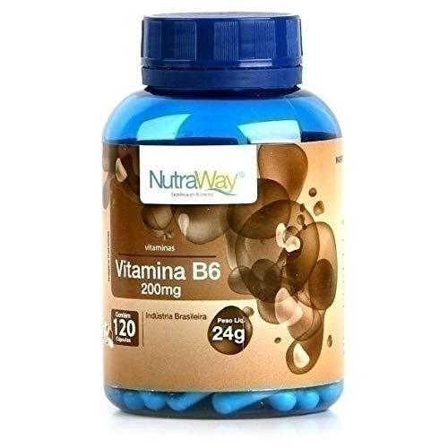 Vitamina B6 120 Cápsulas - Nutraway, 200mg, 120 Cápsulas - Nutraway
