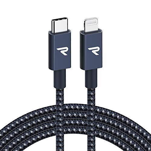 RAMPOW Cable USB C a Lightning Apple MFi Certificado para iP