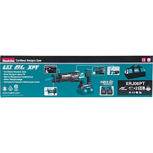 Makita XRJ06PT 18V x2 LXT Lithium-Ion (36V) Brushless Cordless Recipro Saw Kit (5.0Ah)
