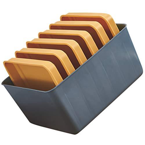 Hemoton 1 Juego de Bandejas de Cocina Montadas en La Pared Platos de Múltiples Capas Laterales de Cocina Suministros de Cocina Conjunto de Almacenamiento Azul