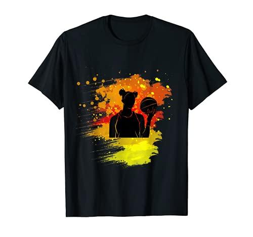 Jugador de baloncesto para niñas de fuego Camiseta