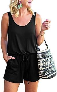 ANRABESS Women Summer Loose Solid Sleeveless Jumpsuit...