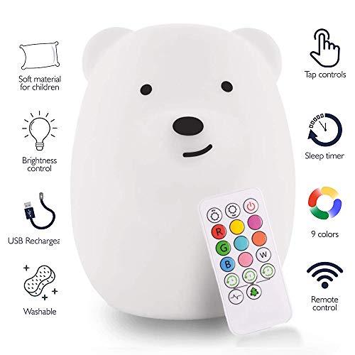wgde toy Luci notturne per Bambini a LED - Il miglior Regalo (Piccolo Orso)