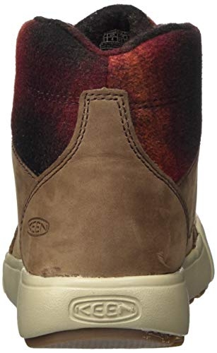 KEEN womens Elena Mid Height Ankle Hiking Boot, Chestnut/Plaza Taupe, 8.5 US