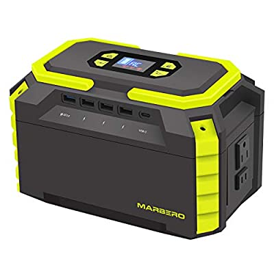 200W Portable Power Station 222Wh 60000mAh Backup Lithium Battery Power Supply Solar Generator(Solar Panel Not Included) with 2 110V AC Outlets/2 QC3.0 Ports/3 USB 2.0 Ports LED SOS Flashlight for CPAP Indoor Outdoor Camping Travel Emergency