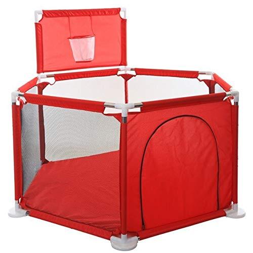 weichuang Juguetes para niños y niñas, para niños, muebles de juegos para niños, pelota seca, piscina, barreras de seguridad, parque de bolas para bebés de 0 a 6 años (color rojo)