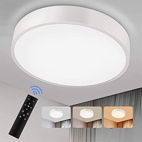 NICEAPR una araña Lámpara de techo LED regulable, 24W 2600LM Color de la luz y brillo ajustable con control remoto y aplicación, lámpara de techo de Redmoo para sala de estar Habitación para niños Hab