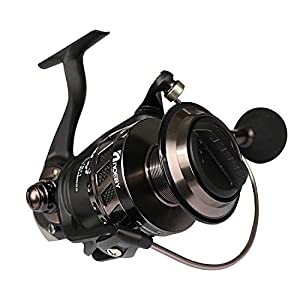 Fiblink Spinning Reel Aluminum Body 66 LBs Max Drag 4.1:1 High Speed Gear Ratio Left/Right Interchangeable Collapsible Handle Super Smooth Deep Sea Spin Reel (Noeby) (Infinite 7000)